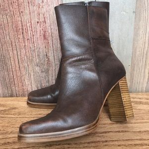 Bongo Leather Heeled Boots 8-1/2